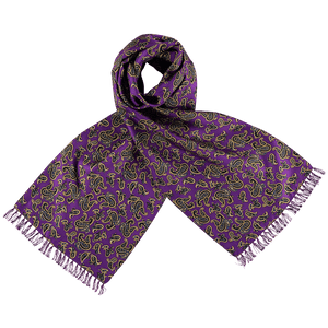 Scarf - Paisley - Purple