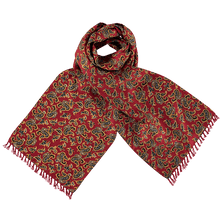 Load image into Gallery viewer, Scarf - Paisley - Red/Black