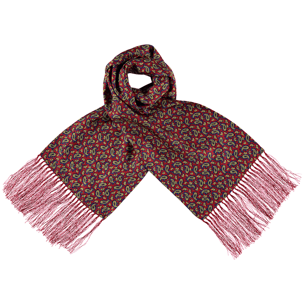 Scarf - Paisley - Red/Blue