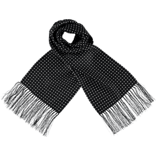 Load image into Gallery viewer, Scarf - Spots - Black/White