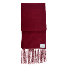 Load image into Gallery viewer, Scarf - Spots - Burgundy/White