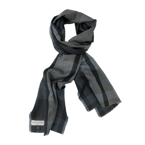 Scarf - Check - Blue Grey