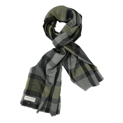 Scarf - Check - Green Grey