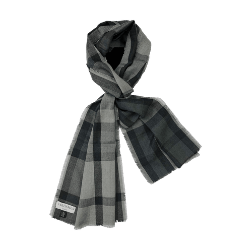 Scarf - Check - Grey Grey