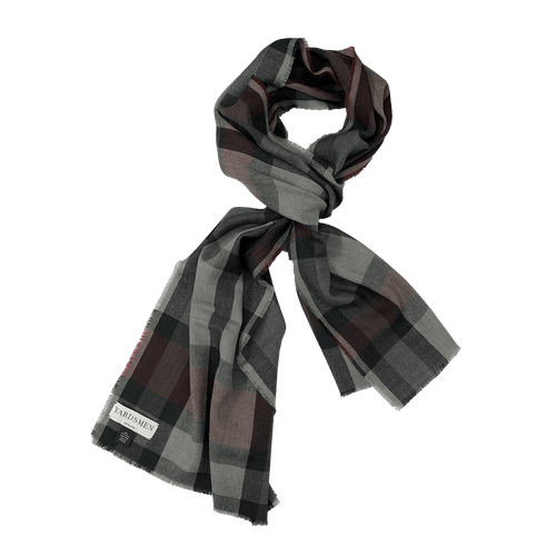 Scarf - Check - Red Grey