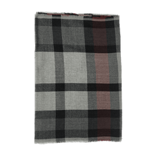 Load image into Gallery viewer, Scarf - Check - Red Grey