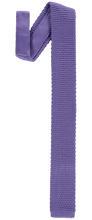 Load image into Gallery viewer, Tie - Knitted Light Purple - Polyester