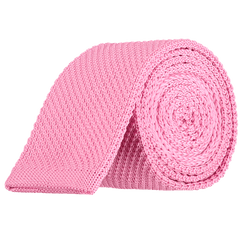 Tie - Knitted Pink - Polyester