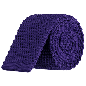 Tie - Knitted Purple - Polyester