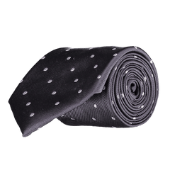 Tie - Big Spots - Dark Grey
