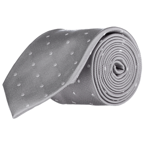 Tie - Big Spots - Grey
