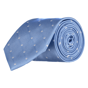 Tie - Big Spots - Light Blue