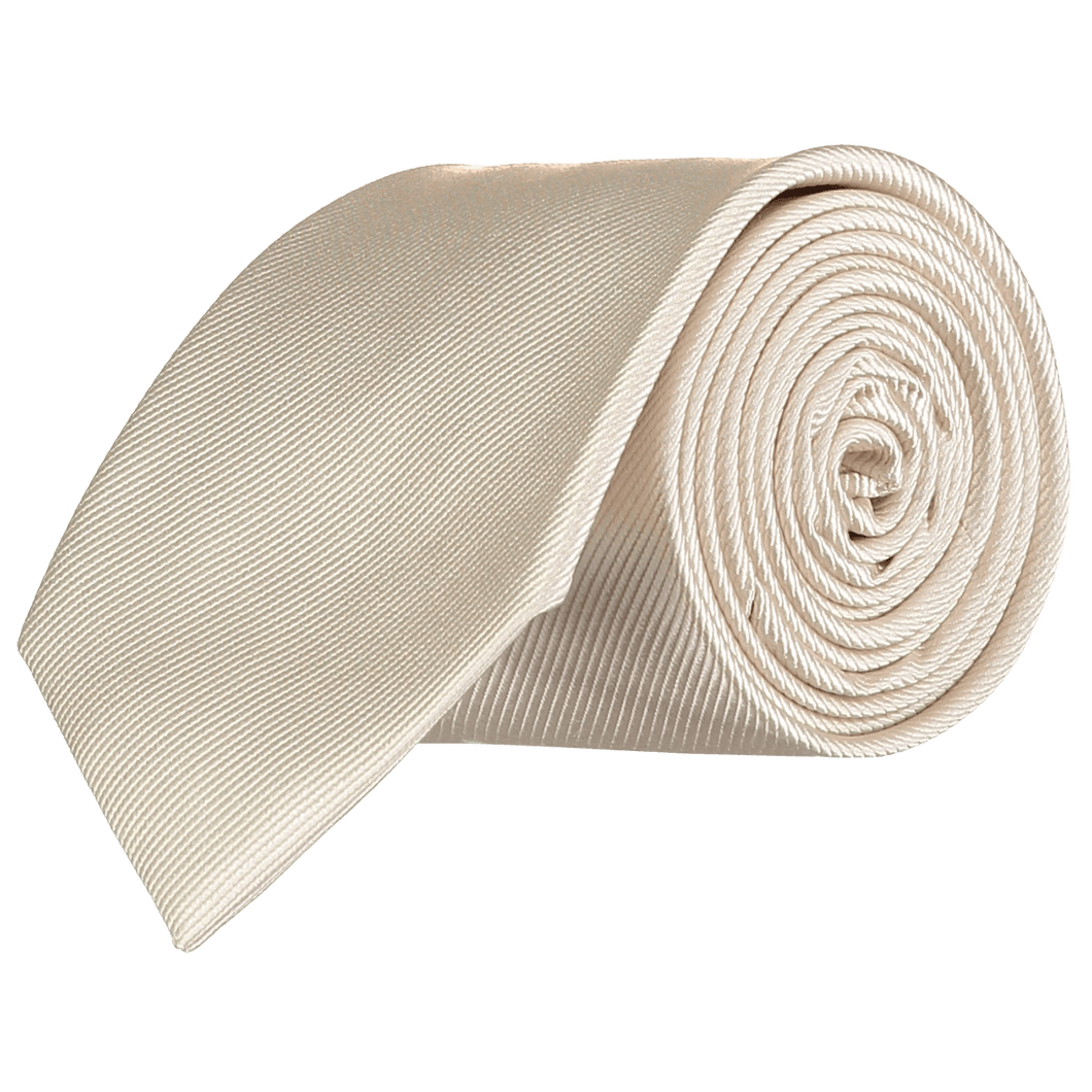 Tie - Diagonal Ribbed Champagne