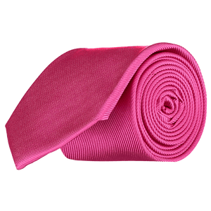 Tie - Diagonal Ribbed Fuschia pink