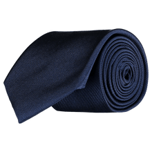 Load image into Gallery viewer, Tie - Diagonal Ribbed Navy blue