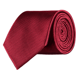 Tie - Herringbone - Red