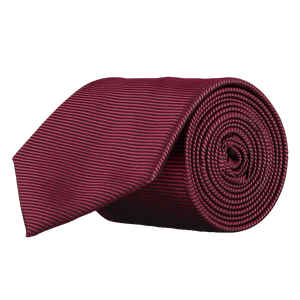 Tie - Horizontal Ribbed Plum