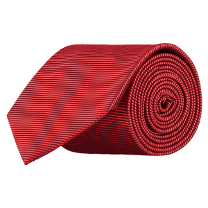 Tie - Horizontal Ribbed Red