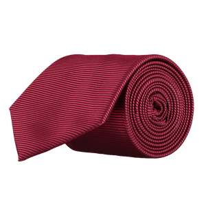 Tie - Horizontal Ribbed Wine