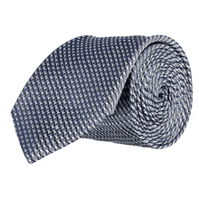 Load image into Gallery viewer, Tie - Lattice Navy Blue