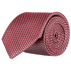 Tie - Lattice Wine Red