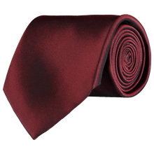 Load image into Gallery viewer, Tie - Plain Silk - Dark Red