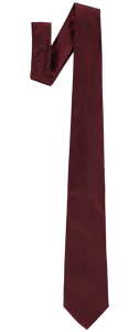 Tie - Plain Silk - Dark Red
