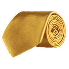 Load image into Gallery viewer, Tie - Plain Silk - Gold