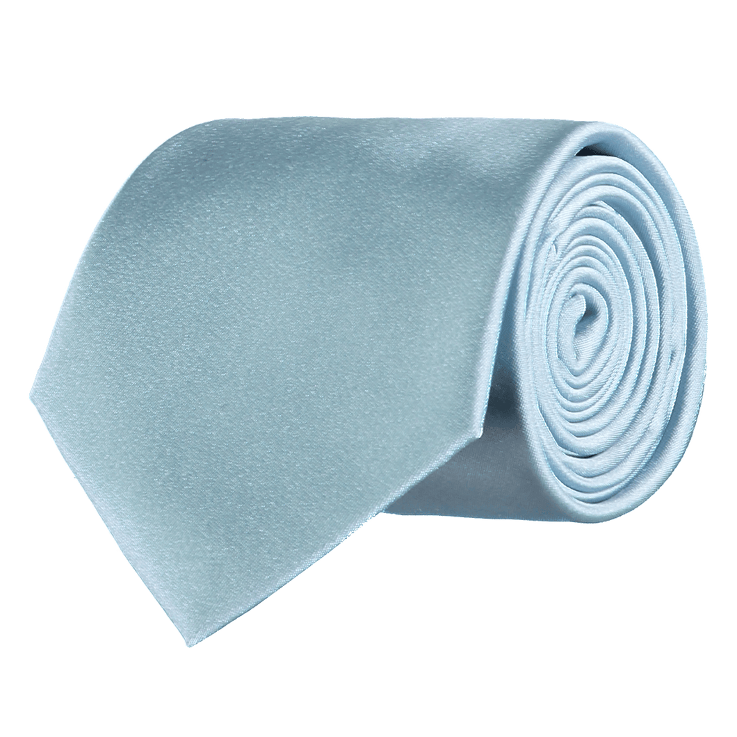 Tie - Plain Silk - Light Blue