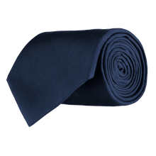 Load image into Gallery viewer, Tie - Plain Silk - Navy Blue