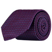Load image into Gallery viewer, Tie - Spots - Purple/Blue