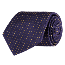 Load image into Gallery viewer, Tie - Spots - Purple/Yellow