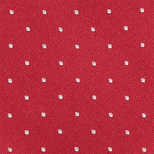 Load image into Gallery viewer, Tie - White Spots - Red