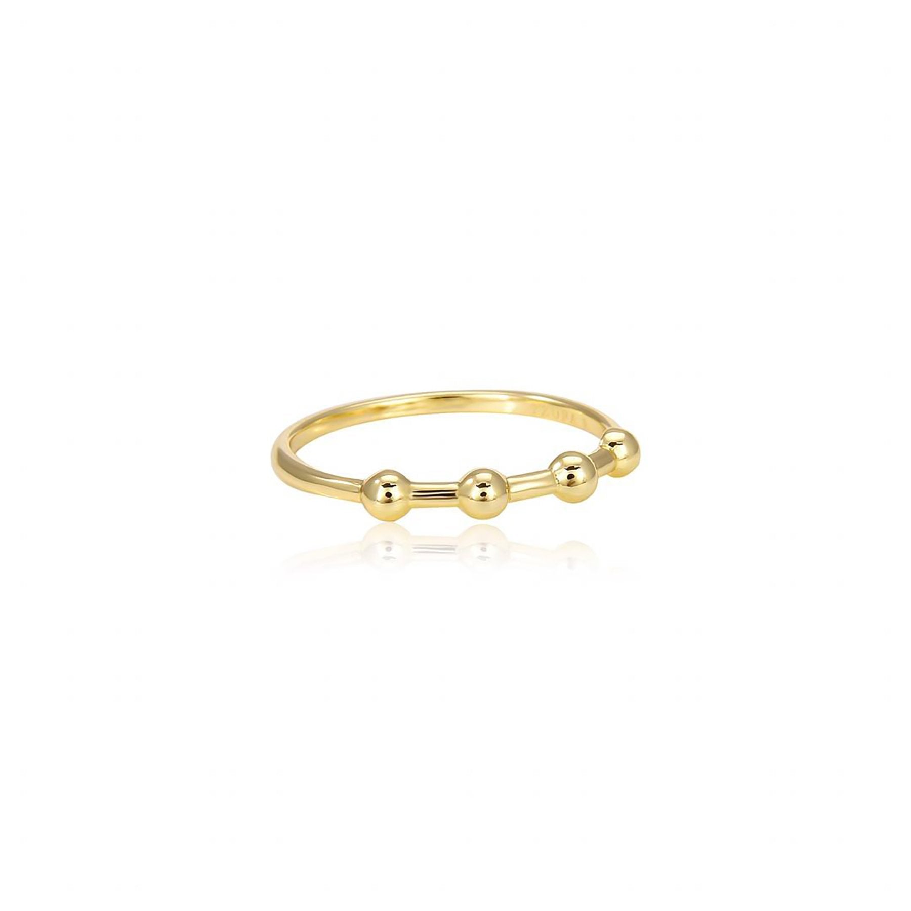 CIRCLES RINGS WITH SPACES GOLD PLATED