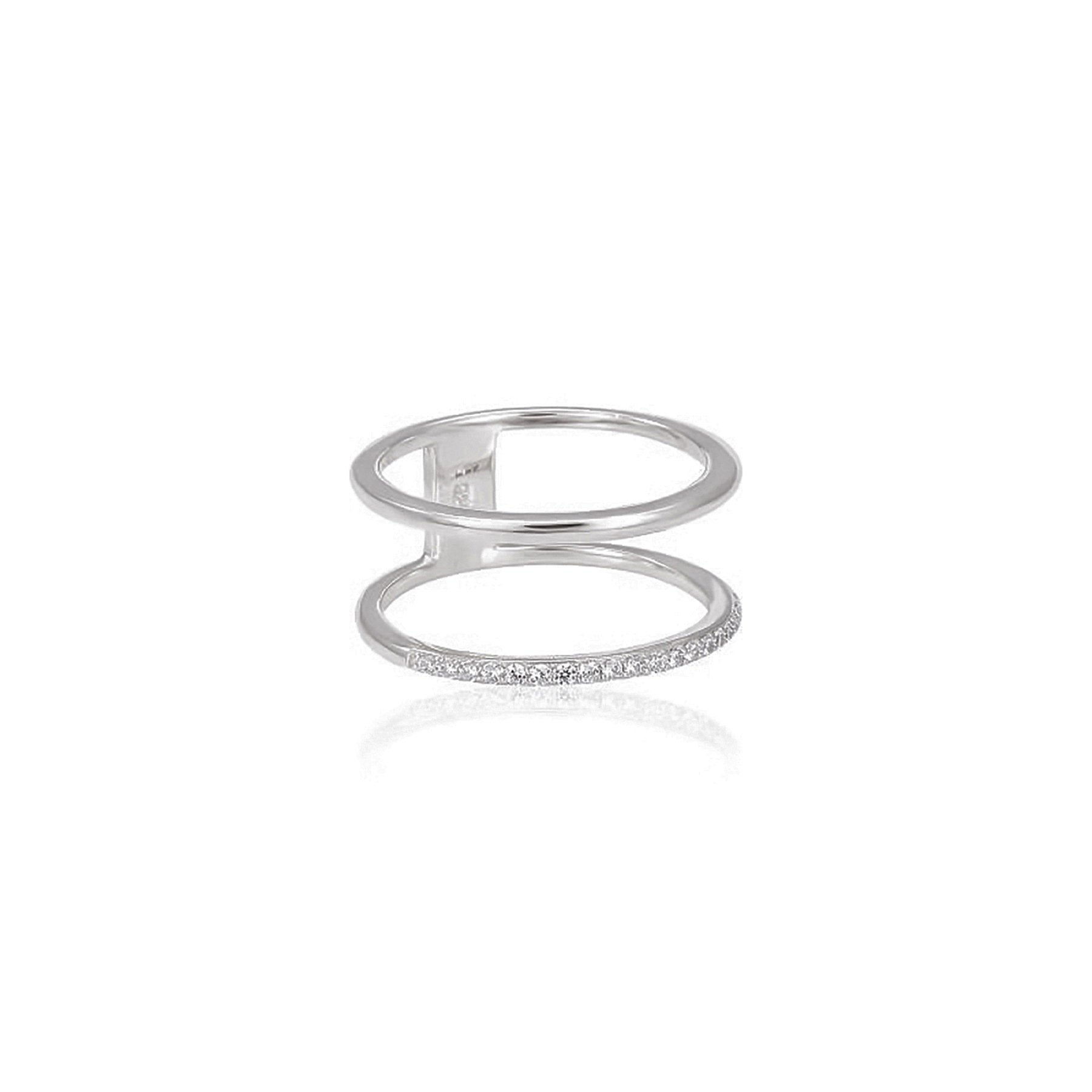 BLANK STRIPE AND INSET STRIPE STERLING SILVER 925
