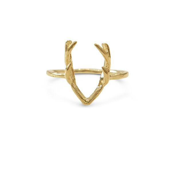 Ring with Horns Gold plated