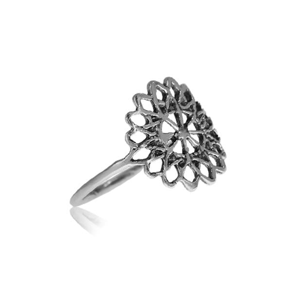 Ring with Henna Decoration Sterling silver 925