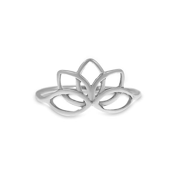 Ring with Lotus Sterling silver 925