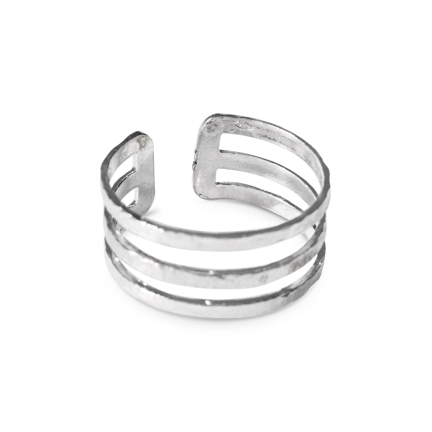 Flexible Ring with 2 Stripes Sterling silver 925