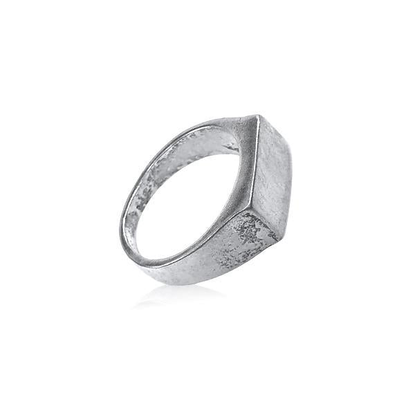 Ring with Massive Rectangular Seal Sterling silver 925
