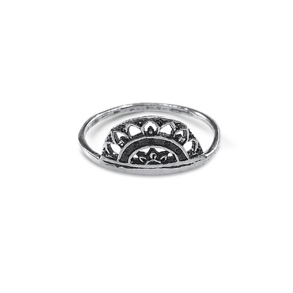 Ring with Blackened African Crown Sterling silver 925