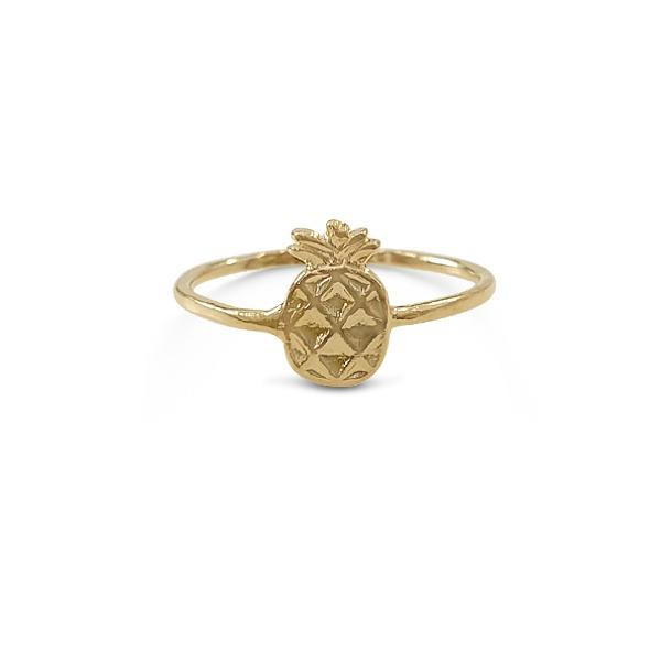 Ring with Small Pineapple Gold plated