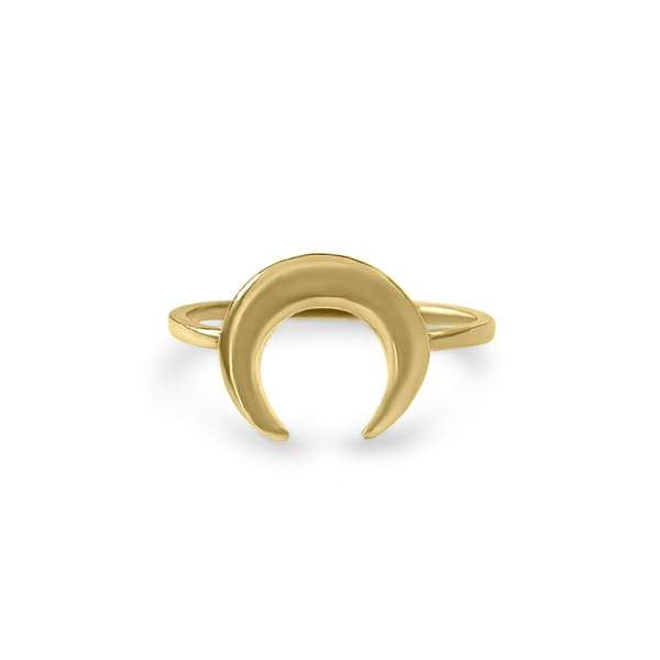Ring with Crescent Moon Gold plated