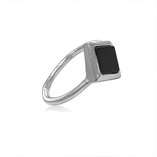 Ring with Onyx Stone Sterling silver 925