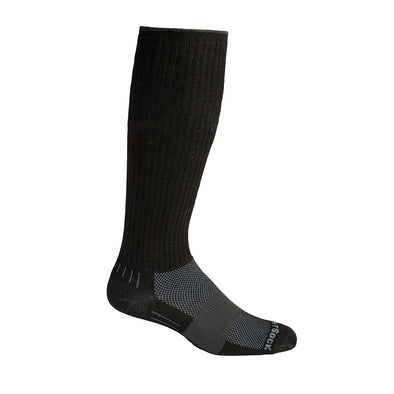 Black over the calf length sock