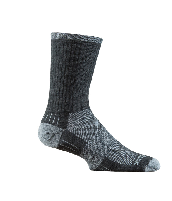 Merino Light grey and grey crew sock