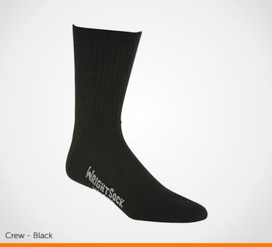 Black crew sock extra wide