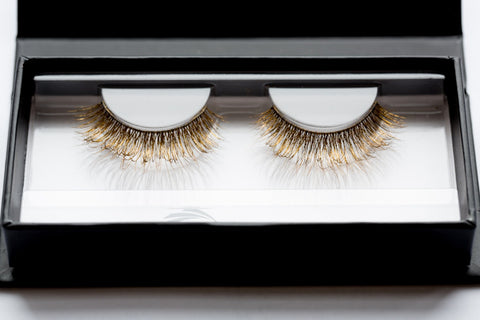 24k Gold Highlighted Lashes
