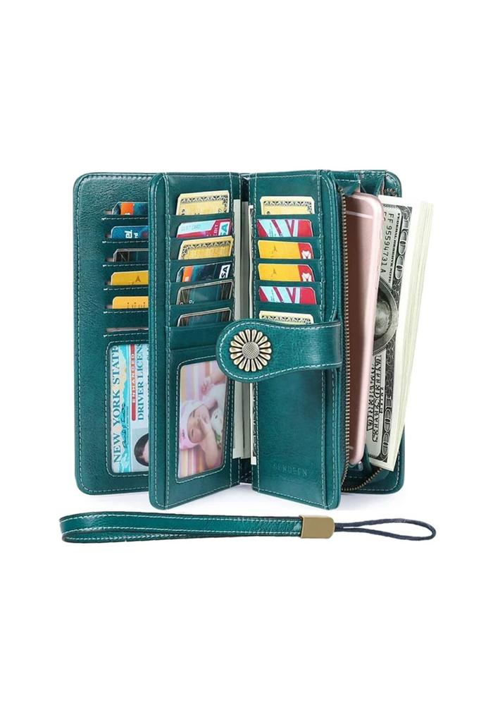Women's Wallets, Large Capacity with Gift Box RFID Protection