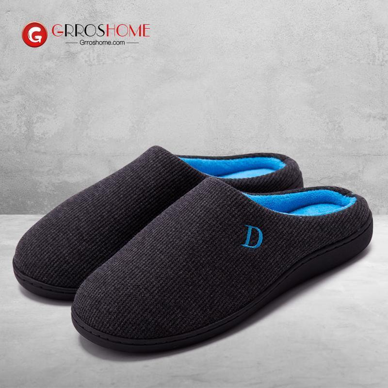 Men's and women's sponge cloth warm slippers